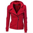 Mujer Sudadera Con Capucha Jersey Suéter Cremallera Abrigo chaqueta
