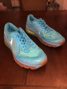 Air Max 2014 Running Shoes 621077-407 Size 7 - Multicolor Blue Fast Shipping