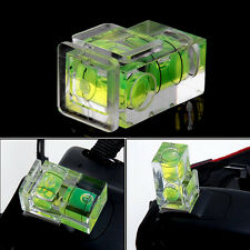 New 2 Axis Bubble Spirit Level Flash Hot shoe cover cap for Kamera DSLR