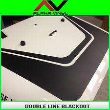 Dual Line Hood Blackout Decal Matte Black Out Fits: Jeep Wrangler JK 07-18