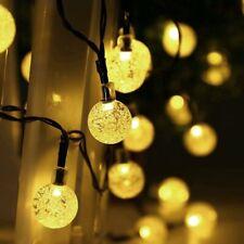 Solar LED Lichterkette 20LED Warm Weiß Party Garten Deko Außen Innen Beleuchtung