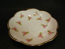 Vintage Salisbury Bone China Embossed Rose Saucer Excellent Condition