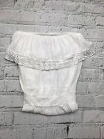 NEXT - White Crochet Detail Strapless Knee Length Dress - Womens - Size 12