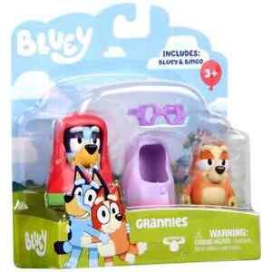 Bluey & Bingo Grannies Playset Action Figures Poseable Dog Children's Toy Model