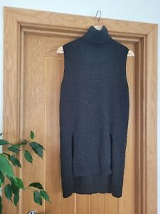 Whistles Wool And Cashmere Sleeveless Jumper High Neck XS 6 8