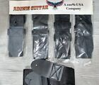 Guitar Instrument Straps wholesale, Black Poly, Lot of 5 New - Adonis USA