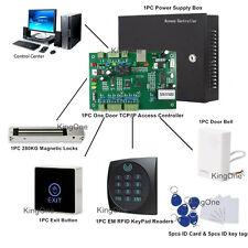 600Lbs One Door Magnetic Lock Tcp/Ip.Net Security Control Full Kit Keypad Reader