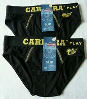 Lot de 2 slips noir homme lingerie sous vêtement taille S ou M neuf