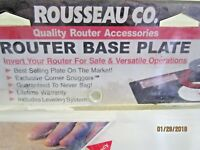Rousseau 3509 9-Inch x 12-Inch x 3/8-Inch Deluxe RouterTable Mounting Base Plate