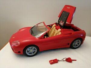 Barbie Ferrari Car Mattel 2004 &  Model Car Key To Open Boot Trunk Ken Sindy