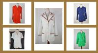 Vintage Jacket Lot of Five Mod 1970s Polyester Jackets Butte Knit Red White Blue