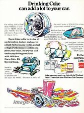 1970 Coke Cola Soda Car Race Vintage Advertisement Print Ad J700