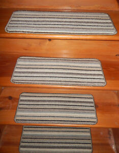 13 = Step 9'' x 23''  Stair treads Tufted carpet Woven  Wool Blend .