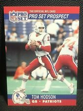 TOM HODSON 1990 Pro Set Error PLATE BREAK Green Blue Line KNOWN SCARCE #739