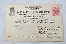 postcard brevkort Finland Suomi Finnland Postkupen Helsinki Helsingfors 1891