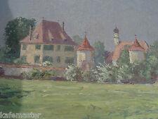 """Eugen Franz Renwart   """"Schloss Blutenburg""""expressives Gemälde datiert"""