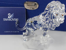 SWAROVSKI CRYSTAL LION RETIRED 2008 MIB #269377