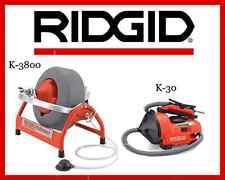 Ridgid Auto-Clean K-30 Sink Machine (34963) & Ridgid K-3800 Drum Machine (53117)