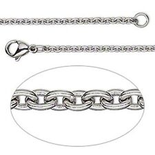 "Cable Link 16"" Necklace Chain 316 Stainless Steel 2.2mm Thin"