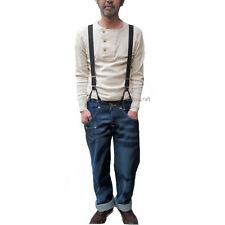 Vintage 40s Style Button On Braces Suspenders/ Black
