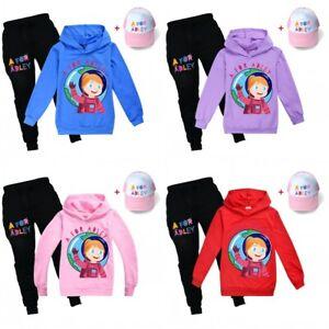 A for Adley Kids Boys Hooded Sweatshirt Trousers Tracksuit Set Hoodie Pants Hat
