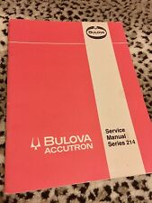 Original vintage Bulova Accutron tuning fork watch 214 Service Manual 1969 36pgs