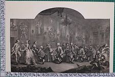 GEORGIAN PRINT ENGRAVING - WILLIAM HOGARTH - ANALYSIS of BEAUTY PLATE 2