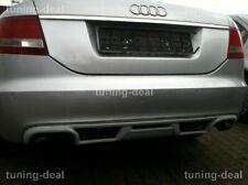 Heckdiffusor passend für Audi A6 C6 4F Limousine Diffusor Tuning (Doppelendrohr