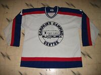 VINTAGE CANADIAN MINOR REC BEER LEAGUE GAME USED HOCKEY JERSEY MASKA KNIT SIZE54