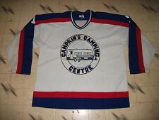 VINTAGE CANADIAN MINOR REC BEER LEAGUE GAME USED HOCKEY JERSEY MASKA KNIT  SIZE54 15148ea33