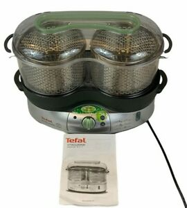 Tefal Vitacuisine 3 in 1 Electric Food Steamer Cooker Fish Meat Vegetables Rice