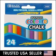 24pc - Dustless Colored Chalk Assorted Drawing Colors for Home, School, Office