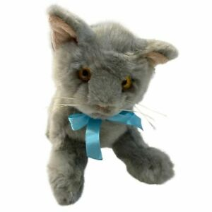 Grey Cat stuffed animal Sasha 10'/25cm soft plush toy Bocchetta NEW
