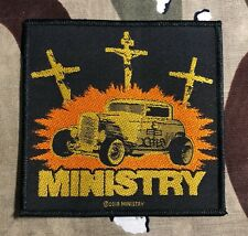 Ministry Jesus Built My Hotrod Woven Patch MO87P