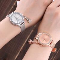 Women Ladies Eiffel Tower Stainless Steel Quartz Round Causal Wrist Watch Gift