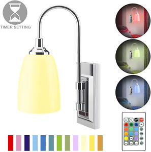 Wall Lamp Battery Operated LED Sconces Wireless Multi Color Stick Lights
