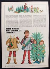 Betsy McCall Mag. Paper Doll, Betsy Most Christmasy Christmas, Dec. 1982