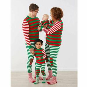 NWT Hanna Andersson VERY MERRY MIX UP STRIPE XMAS UNISEX ADULT Pajama Pants XL