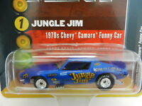 2018 RC 1:64  RACING CHAMPIONS MINT *BLUE* JUNGLE JIM 1970 Camaro FUNNY CAR NIP!
