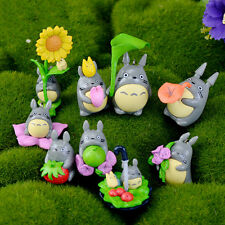9pcs/ Set Mini My Neighbor Totoro Anime Figure DIY Moss Micro Landscape Toys AU