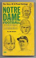 1962 Notre Dame Football: The Story of a Proud Heritage Paperback Book!