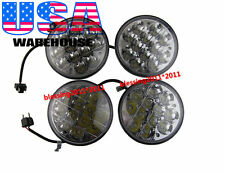 "5-3/4"" LED Cree Light Bulbs Crystal Clear Sealed Beam Headlight Headlamp Set AAF"