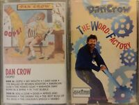 2x LOT Dan Crow Kids Audio Cassette Tapes Oops! / The Word Factory SEALED fr/shp
