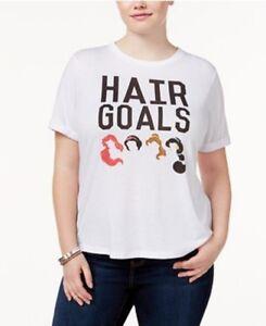 NEW Soft & Stretch Disney Princess Hair Goals T-Shirt Tee Top 14/16 1x 18/20 2x