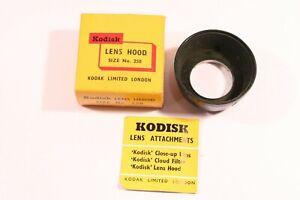 KODAK SIZE NO. 250  LENS HOOD 22mm - 25mm PUSH ON TYPE