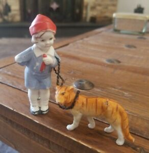 Antique German Bisque Doll Immobile walking pet 1910s