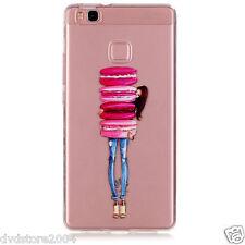 "Custodia Cover IMD MACARONS RAGAZZA Case TPU Morbida per Huawei P9 Lite 5.2"""