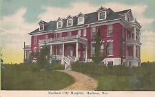 Madison City Hospital in Madison WI Postcard