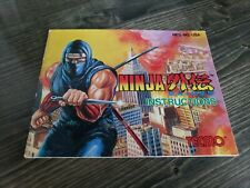 Ninja Gaiden NES Manual Instruction Booklet Only