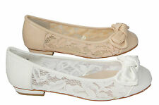 Bailarina Zapatos de Novia de Encaje Con Lazo Muy Noble BP5191-BA